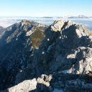 Razgled iz vrha na dolino Krme, Debelo peč in Karavanke