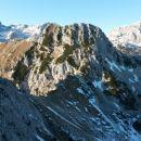 Razgled iz vrha na Triglav, Mali Draški vrh in Rjavino