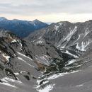 Razgled iz vrha na Veliki vrh Košute, Grintovec, Kočno, Storžič in Begunjščico