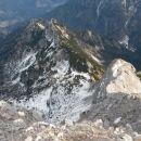 Razgled iz vrha na Robičje (levo) in Nad Šitom glavo (desno)