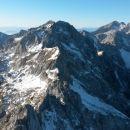 Razgled iz vrha na Krvavec, Planjavo, Brano, Tursko goro, Grintovec, Skuto in Rinke