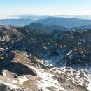 Razgled iz vrha na Veliki vrh (Vežo), M. Ojstrico, Veliki Rogatec, Lepenatko in Desko