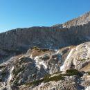 Razgled iz vrha na Dolge stene in Grintovec