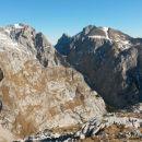 Razgled iz vrha na Tursko goro, Ojstrico, Planjavo in Brano (od leve proti desni)