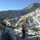 Nadaljnja pot proti Bivaku pod Grintovcem ter razgled na Grintovec