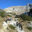 Pot proti Jezercam ter razgled na Mali Draški vrh