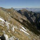 Vzpon na Tosc ter razgled na Mali Draški vrh, Viševnik in Ablanco (od leve proti desni)