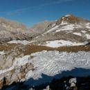 Razgled na nadaljnjo pot proti vrhu Tosca