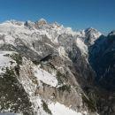 Razgled iz vrha na Grintovec, Skuto, Rinke, Tursko goro, Brano in Kamniško sedlo