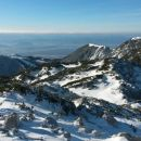Razgled iz vrha na Krvavec in Veliki Zvoh