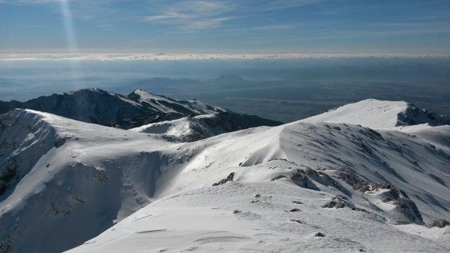 Razgled iz vrha na Veliki Zvoh in Krvavec
