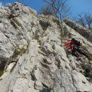 Vstop v Furlanovo zavarovano plezalno pot