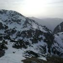 Pogled nazaj na prehojeno pot od Kokrskega sedla