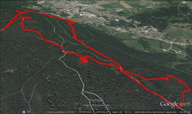 Po Stojni na Kočevjem, 12,4Km in 960m vzpona.