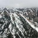 Razgled z Srednjega vrha na južno pobočje Vrtače
