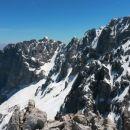 Razgled z vrha Špika na Kukovo špico, Široko peč in Ponci (od leve proti desni)