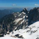 Razgled z vrha Špika na Kepo (levo) ter Sleme, Kukovo špico in Široko peč