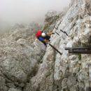 Navpičen vzpon po kaminu z Rjavine
