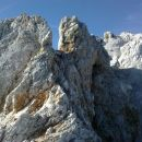 Pogled na nadaljnjo grebensko pot