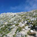 Pogled z poti proti vrhu Kukove špice
