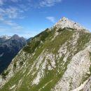 Razgled z poti proti vrhu Košutice