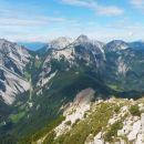 Razgled z vrha Košutice na Begunjščico, Stol, Vrtačo, Palec, Zelenjak in Ovčji vrh