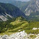 Razgled z vrha Košutice na Planino Korošico