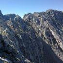 Pogled nazaj na prehojeni grebenski del poti med Lipnico in Špikom