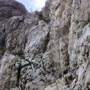 Pogled na vstopni del 60m visoke Pipanove lestve