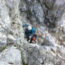 Vzpon na Montaž čez 60m visoko Pipanovo lestev