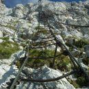 Pogled na zgornji del 60m visoke Pipanove lestve