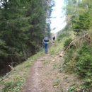 Zadnji metri vzpona na Vitranc.