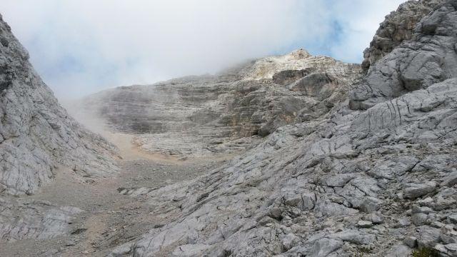 Razgled s poti na greben proti vrhu Jalovca