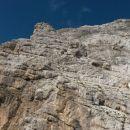 Pogled nazaj na Jalovčevo steno