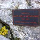 Tabla pri vstopu v ferrato Zermula