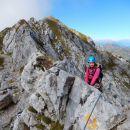 Na izstopu s ferrate Zermula ter razgled proti vrhu Monte Zermule