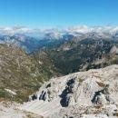 Razgled z vrha Batognice na Mangart, Jalovec, Mojstrovke, Prisojnik, Razor in Špičje