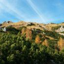 Pot v dolino ter pogled nazaj proti vrhu Viševnika