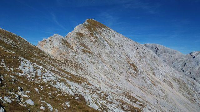 Pogled proti vrhu Male Zelnarice
