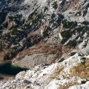 Razgled z vrha Male Zelnarice na jezero