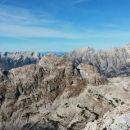 Razgled z vrha Male Zelnarice v ozadju na Jalovec, Mojstrovke, Prisojnik in Razor