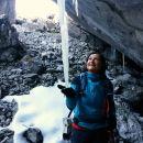 ... in velike ledene sveče v jami :)