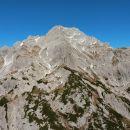 Razgled z vrha Lučkega Dedca na Ojstrico