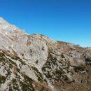 Razgled z vrha Lučkega Dedca na celoten greben od Male Ojstrice (desno) do vrha (levo)
