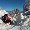 Na vrhu Turskega žleba s pogledom na krasno Mrzlo goro
