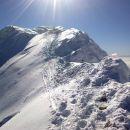Pogled na izpostavljeno prečko pred vrhom Turske gore