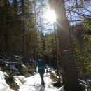 Nadaljnja pot proti Planini Bistrica/Hutte Oisternig