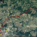 19km in 3,30 do 4,30 ure urnega koraka. oB slikah razlaga poti.