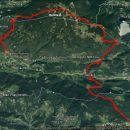 Nočni pohod dolg 30,3km, 1540m vzpona in nekaj manj m spusta.