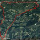GPS pravi, 33,8km, 1965m vzpona in toliko spusta, 11 ur čiste hoje.